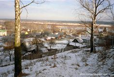 Winter in Mozyr, Belarus.
