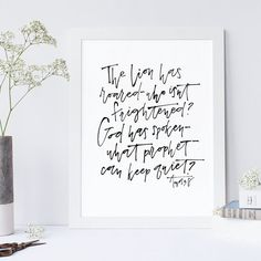 Amos 3:8 Hand Lettered Print Bible Verse Art by ThePaperMountainCo