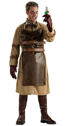 Mad Scientist Costume, but for women. i like the dark apron(made into a dress) and belt idea