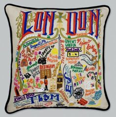 Today I saw the non-embroidered (aka 30dollars and not 158dollars) version of this. Fell in LOVE. {London Pillow by catstudio}