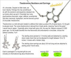 Necklaces made out of molecules -- theobromine necklace!