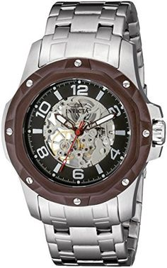 Men's Wrist Watches - Invicta Mens 16124 Specialty Analog Display Mechanical Hand Wind Silver Watch ** To view further for this item, visit the image link.