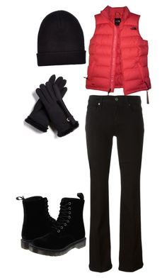 """""""Untitled #241"""" by princesssheryl1 on Polyvore featuring The North Face, Paige Denim, Dr. Martens, FRR and New Look"""