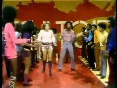 Soul Train Line Dance to Aretha Franklin Rock Steady.  Check out the outfits! LOL and some of that looks eerily like...dubstep??