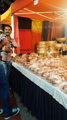 Copper seller at the Flea Market #bangalore #fleamarket #india #copper