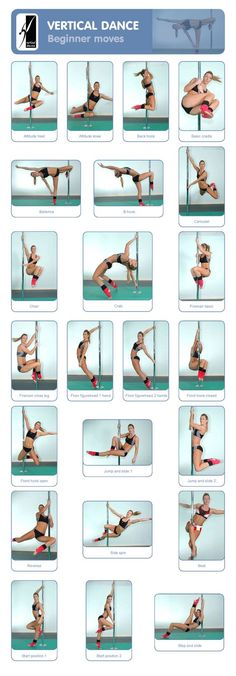Pole Dance Training - Beginner moves: