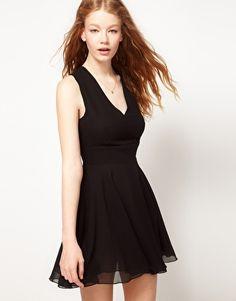 Asos Love Chiffon Cut Out Dress