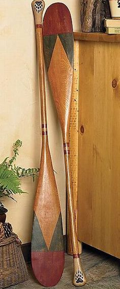 Rustic Decor | Antique Style Canoe Paddles