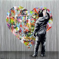 Entre toile et street art, les créations de l'artiste norvégienMartin Whatson, basé à Oslo. Un subtil mélange entre des pochoirs sobres et monochromes et