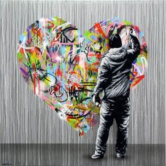 Between painting & street art, the creations of Norwegian artist Martin Whatson, based in Oslo. He creates a subtle blend of simple, monochrome stencils & energy with explosive & colorful anarchic accumulation of graffiti.