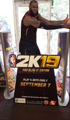 0cb452c0fb48fe Gamestop got a NBA 2K19 display Card Games