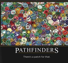 There's a patch for that! #Pathfinders #SDA lol we have like a billion patches!v theres a patch for basket making