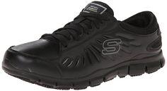 Skechers for Work Women's Eldred Work Shoe, Black, 5 M US