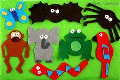 Monkey Puzzle Activities - Homemade fuzzy felt!