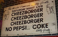 The Billy Goat Tavern is a piece of Chicago history, taking responsibility for a Cubs curse, a famous SNL skit, and a popular media hangout.
