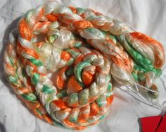 The Fight  1 oz  Silk roving by YanCetta on Etsy, $0.37