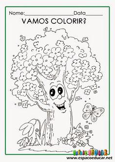 Dia da árvore: desenhos para colorir, pintar, imprimir! ~ ESPAÇO EDUCAR