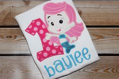 Personalized Bubble Guppies Birthday Shirt with Number and Molly
