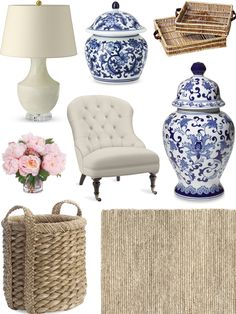 CHIC COASTAL LIVING: FALL REFRESH FOR THE HOME blue & white. #decor #accessories