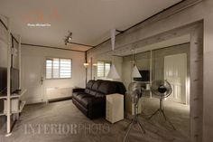 13 SMALL Homes so beautiful you won't believe they're HDB flats Design Living Room, Living Rooms, Living Area, White Brick Walls, Industrial House, Industrial Chic, Home Look, Design Firms, Home Renovation