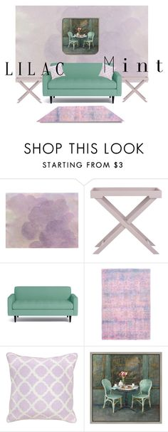 """""""Lilly in mint"""" by moonlightprinces on Polyvore featuring interior, interiors, interior design, home, home decor, interior decorating, Safavieh, Villa Home Collection, Green Leaf Art and colorchallenge"""