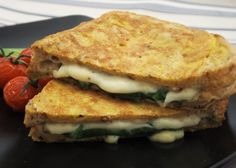 Sunday Brunch – Spinach and Cheese Stuffed Savoury French Toast Savoury French Toast, Spinach And Cheese, Fresh Basil, Sunday Brunch, How To Make Bread, Sandwiches, Breakfast, Recipes, Food