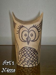 Art's Nêssa - Artesanato: Coruja rolo de papel