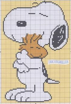 Cute Snoopy cross stitch patterns that can be used for C2C as well!