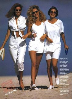 Old School Fashion, 80s And 90s Fashion, Tretorn Sneakers, White Jeans, White Shorts, Balloon Pants, 80s Outfit, 90s Hairstyles, Fashion Poses