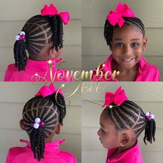 Children's Braids and Beads! DM me for booking information! Children's Braids and Beads! DM me for booking information! Little Girl Braid Styles, Little Girl Braid Hairstyles, Toddler Braided Hairstyles, Toddler Braids, Black Kids Hairstyles, Kid Braid Styles, Little Girl Braids, Baby Girl Hairstyles, Braids For Kids