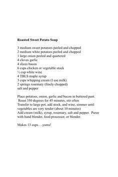 Sue's Sweet Potato Soup