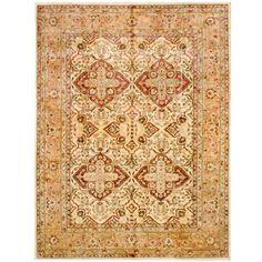 Herat Oriental Afghan Hand-knotted Vegetable Dye Khotan Wool Rug (9' x 12') (Handmade Khotan Wool Rug), Red, Size 9' x 12'