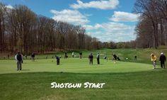 No space on the putting green due to shotgun start. #livingthegreen #golf #golfer #golfcourse #golfing #golfchannel #pgatour #pga #lpga