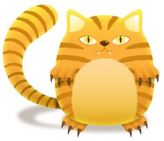 Create a Tiger Striped Cat with Illustrator | Cute Little Factory