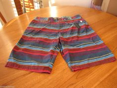 Men's RARE Modern Amusement walk casual shorts 28 CROW multi stripe surf skate #ModernAmusement #shorts