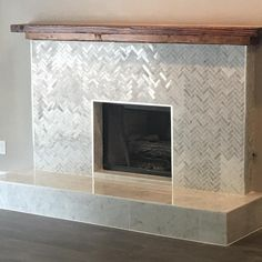 Fireplaces and fireplace mantels are fast becoming a core feature in homes across the world as they add a real feature point to any formal or indeed casual living area. Funnily enough fireplaces ha… Farmhouse Fireplace, Fireplace Remodel, Fireplace Mantle, Fireplace Surrounds, Fireplace Design, Fireplace Ideas, Tiled Fireplace, Fireplace Update, Wood Mantle
