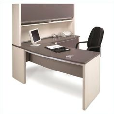 Bordeaux and Slate Bestar Connexion L-Shaped Office Desk with Hutch and Pedestal by bestar. $734.99. Sleek and Stylish, the Connexion Modular Collection is the ideal office solution to maximize all your business potential. Functional yet attractive, and full of space saving solutions, this reversible collection will provide a clean look in any office space, big or small. Features:  Available in three finishes: Sandstone   Slate, Bordeaux   Slate, and Cappuccino Cherry   Slat...