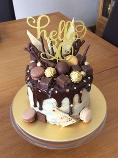 Two Tier Chocolate Drip 30th Birthday Cake Yuumm