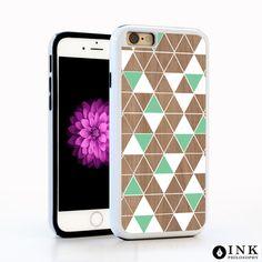 Wood Modern Triangle Pattern Cell Case / TPU iPhone Case iPhone 6 iPhone 6S Plus Case iPhone 5s Galaxy s5 Galaxy s6