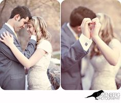 Bride and Groom - Make a heart with hands