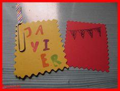 Una tarjeta de cumpleaños de dos piezas... #manualidades