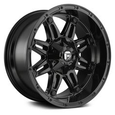 Fuel D625 Hostage 1pc Gloss Black Fuel Wheels Truck Rims And Tires Black Wheels