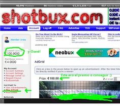 shotbux, ganar dinero facil, emprendedores, ganar dinero con PTC