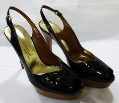 Gunmetal women shoe made in Italy black high heel size 7.5B 37.5 NIB #Gunmetal #Stilettos