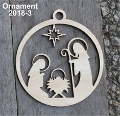 icu ~ Pin on Ideas for Christmas ~ Nativity Christmas Ornament Manger Wood Christmas Ornament Birch Christmas Ornament Christmas Ornaments laser cut ornament baltic birch Christmas Manger, Wooden Christmas Ornaments, Wood Ornaments, Christmas Wood, Christmas Gift Tags, Christmas Baubles, Christmas Crafts, Handmade Ornaments, Christmas Jewelry