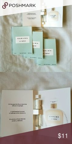 (8) Carven Perfume Samples Carven Perfume Samples. Travel Size. 1.5 mL each. Carven Other
