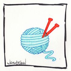 by Whitney Fawn for #30DoC Day 12 - Yarn Ball - @createstuff
