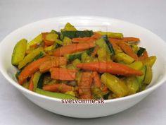 Zeleninové sabdži s cuketou • Recept | svetvomne.sk Carrots, Vegetables, Food, Carrot, Hoods, Vegetable Recipes, Meals, Veggies