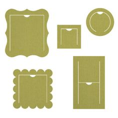 Stampin' Up! Sizzix retired Peekaboo Frames Bigz die