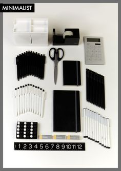 Satisfies My Love Of Black U0026 White AND Office Supplies.